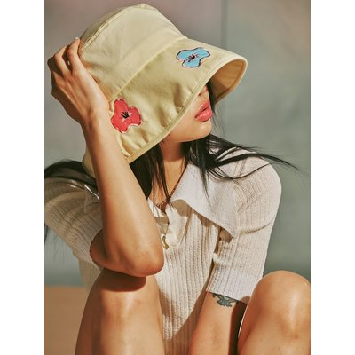 [MIMICAWE] POPPY BUCKET HAT/YELLOW