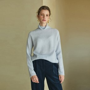 alpaca whole garment knit (sky blue)