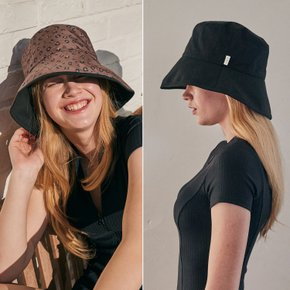 REVERSIBLE BUCKET HAT_BLACK