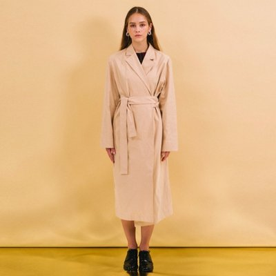 Wrap Trench Coat - Beige