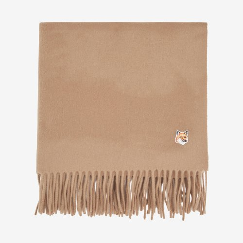 [PRE-ORDER] 19FW SMALL FOX HEAD WOOL SCARF BEIGE UNISEX  DU06208BT3004