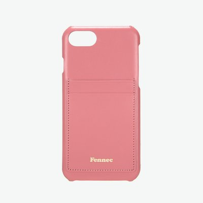 [A LAND]Fennec Leather iPhone7/8 Card Case - Rose Pink