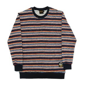 EV Stripe Knit CrewneckNavy