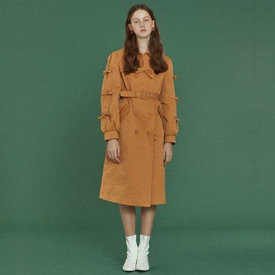 [소피앤테일러] Ribbon Trench Coat _ Mustard