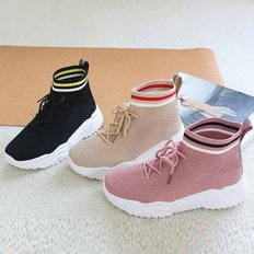 kami et muse Color point scoks fit knit sneakers_KM19w089
