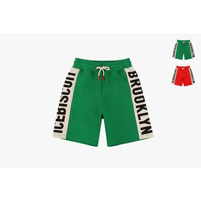 [20% SALE] Icebiscuit logo color block sweat shorts