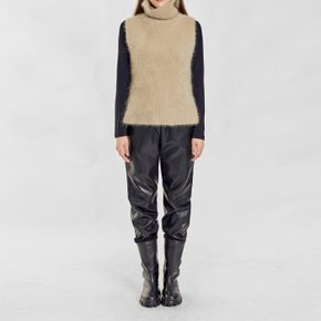 / angora sleeveless turtleneck(3 colors)