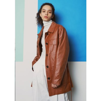 [PLAC] 여성 WOMENS COATED BELT JACKET (PWON3JKL79W0W2)