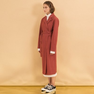 Wrap Trench Coat - Rose