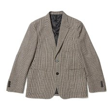 wool check patch pocket jacket_CWJAA19721BEX