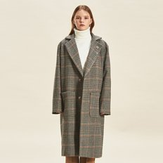Thinsulate Wool Check Maxi Coat BEIGE
