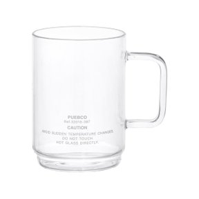 BOROSILICATE GLASS MUG Shallow Stacking