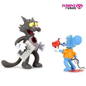 [KINKI ROBOT]THE SIMPSONS ITCHY AND SCRATCHY MEDIUM FIGURE - ORIGINAL(2008011)