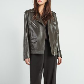 Natural Over Lamb`s Leather Jacket