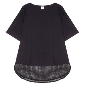 MESH BLOUSE BLACK235 (3516678)