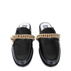 Givenchy Slipper Moccasins With Chain And Logo FW20 BE200UE0MV 001