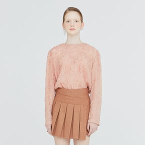 [가브리엘리] 19FW SHEER FIL COUP? BASIC BLOUSE - INDIAN PINK