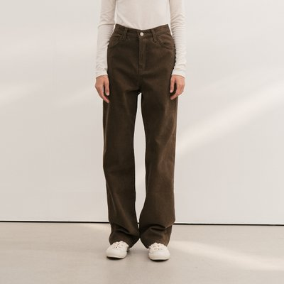 20f/w signature straight pants (brown)