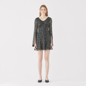 SSG특별혜택가 [가브리엘리] 19SS LONG-SLEEVED CHIFFON MINI DRESS - BLACK