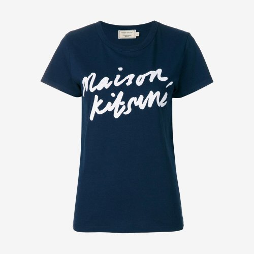 [PRE-ORDER] 20SS TEE-SHIRT HANDWRITING NAVY WOMEN AW00104KJ0005
