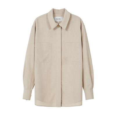 [레이브]Oversized Stitched Shirt in Beige_VW0SB1060