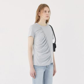 [가브리엘리] 19SS GATHERED DETAIL T-SHIRT - MINT GREY