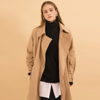 Maxi Trench Coat - Beige