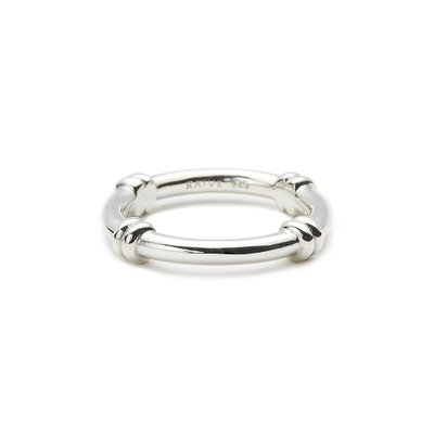 [레이브]Crossed Chain Ring in Silver VX0SX0480