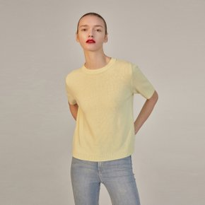 ANCA CASHMERE HALF-SLEEVE KNIT - YELLOW