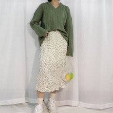 Lovely dot long skirt