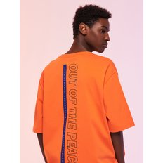 CARGOBROS - OUT OF PEACE TEE (ORANGE) 반팔티 반팔티셔츠