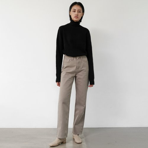 Loose-fit straight Pants (Grey)