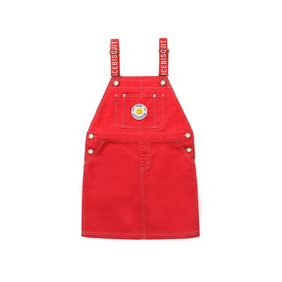 [20% SALE] Smile emblem overall dress