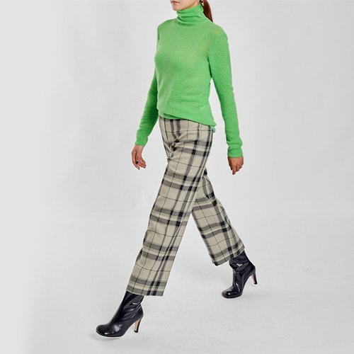 / retro plaid trousers