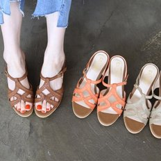 kami et muse 6cm wedge belt strap slippers_KM18s121