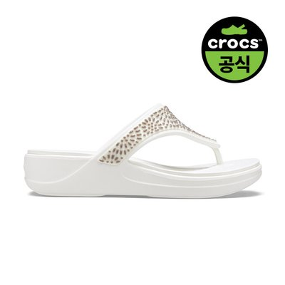 크록스공식 여성 CROCS MONTEREY DIAMANTE WEDGE FLIP W OYS (20SWWD206343)