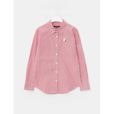 [Special Off 30%] [LIME BEANPOLE] 레드 베이직 스트라이프 셔츠 (BF8264N016)