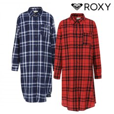 롱체크셔츠 TRUNK LONG SHIRT DRESS (R911SH110)