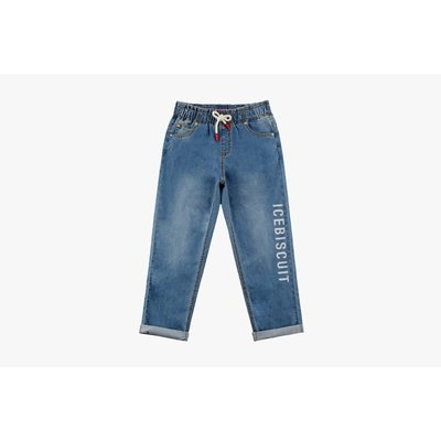 [10% SALE] Icebiscuit semi-beggy fit banding denim pants