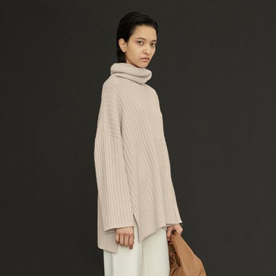 New Cashmere Cape Knit_Oyster