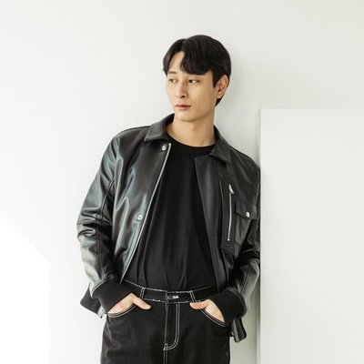 LAMB SKIN FLIGHT JACKET [BLACK] (2070633)