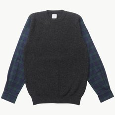 SHIRT SLEEVE KNIT C.GREY