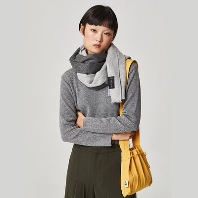 [조셉앤스테이시] JOSEPH&STACEY 100% Cashmere Muffler Light Grey