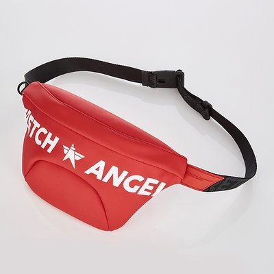 스트레치엔젤스[S.P.U] Round volume fanny bag S (Red)