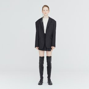 [가브리엘리] 19FW OVERSIZED DROP-SHOULDER BLAZER - DARK GREY MELANGE