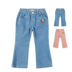Heart corduroy flared pants