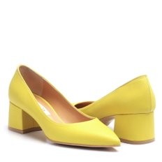 Pumps_Clac R1403_5cm(Yellow/Black/Skin/White)