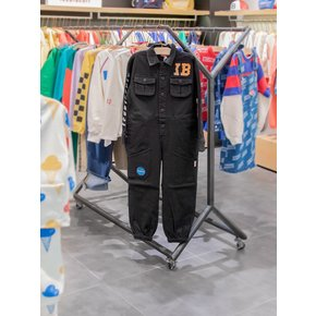 IB-embroidered cottonboiler suit