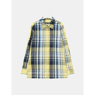 [Special Off 30%] [LIME BEANPOLE] 옐로우 오버사이즈 체크 셔츠 (BF8264N05E)