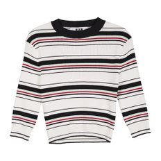 공식[MSGM] W_Striped Viscose Knit(WHITE)